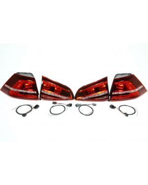 Magneti Marelli MK7 LED Tail Lights (Cherry Red) with Rear Fog Lights and Adapter Harness