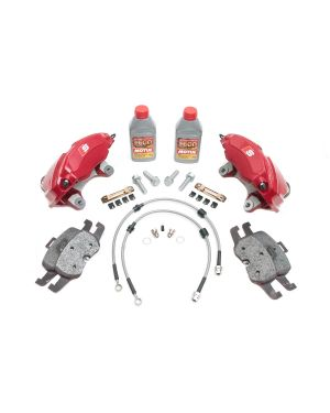 Audi TTS Caliper Upgrade Kit for MK7 Golf R, PP GTI and Audi S3 (Red) - 4 Piston