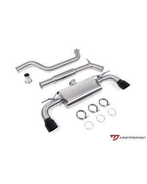 UNITRONIC CAT-BACK FOR MK7.5 GTI, BLACK TIPS