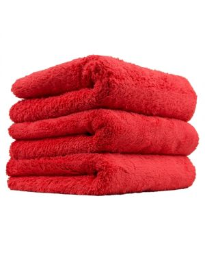 "Happy Ending Edgeless Microfiber Towel, Red 16""X16"" (3 Pack)"