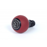BFI Heavy Weight Shift Knob SCHWARZ - Magma Red Air Leather (VW/Audi Fitment)