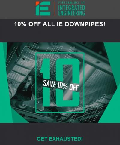 Integrated Engineering - Downpipe Sale 2020!