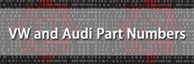 How VW and Audi Part Numbers Work