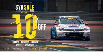 034Motorsport SYR (Stimulate Your Ride) Sale!