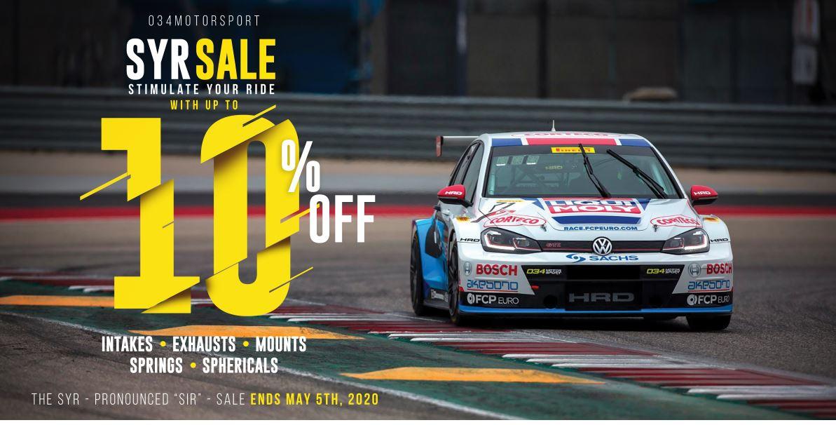 034Motorsport SYR (Stimulate Your Ride) Sale!