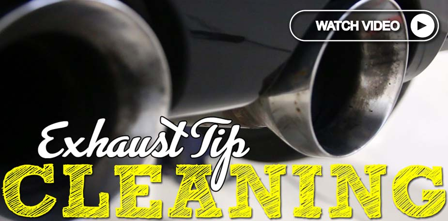 vw exhaust tip cleaning