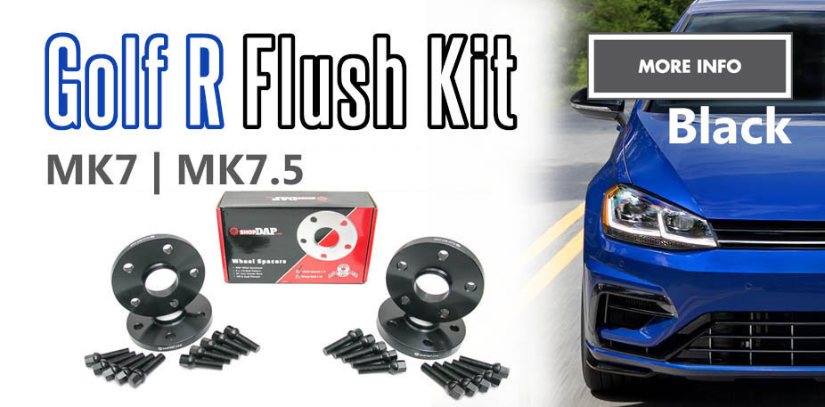 MK7 and MK7.5 Golf R Black Wheel Spacer Flush Kit
