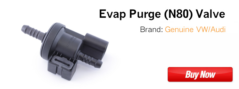 2.0t FSI Evap Purge (N80) Valve 06E906517A