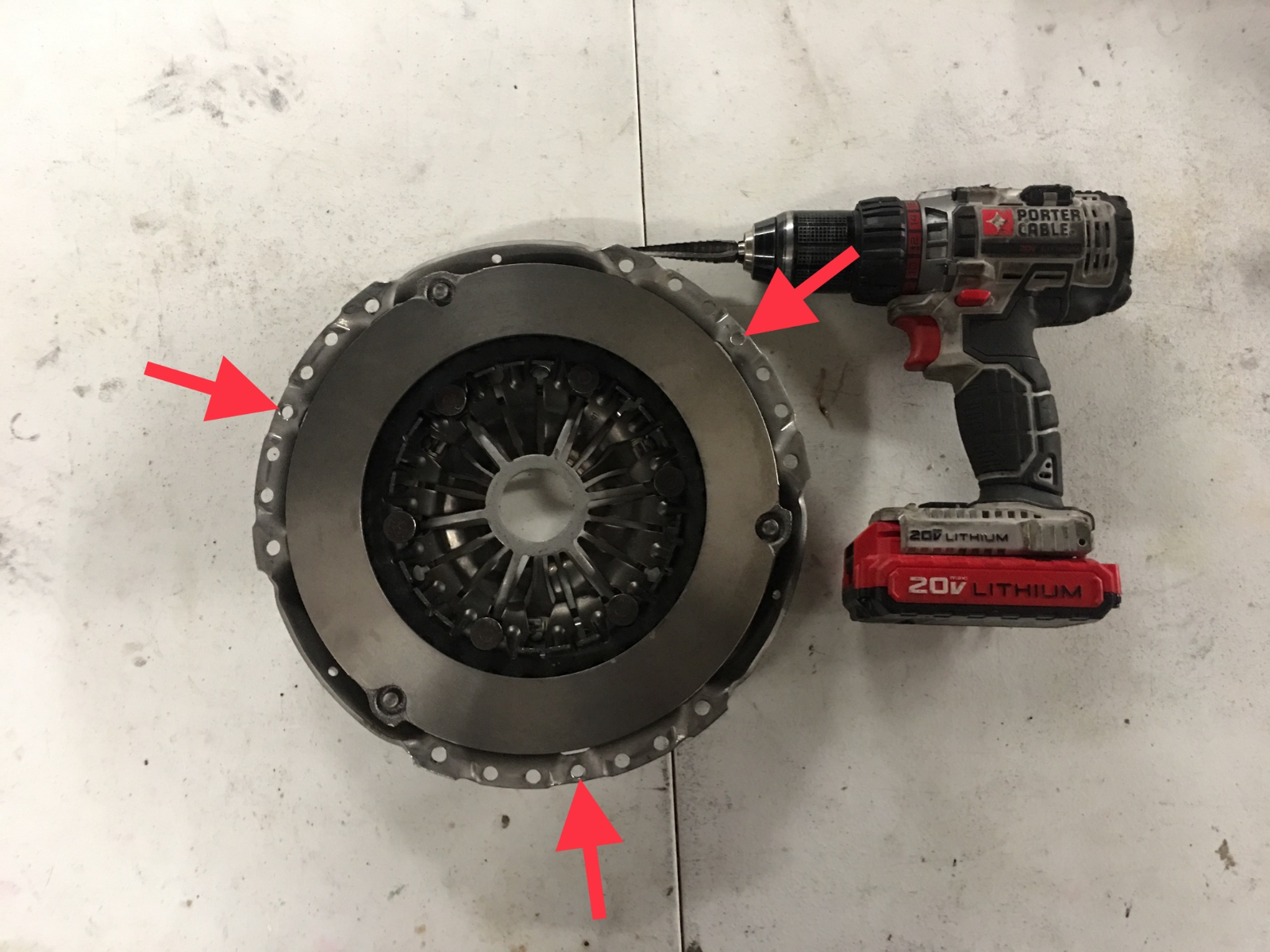 How to Drill Audi TTRS Pressure Plate