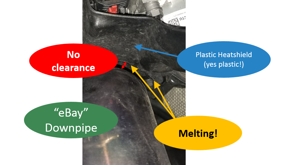 eBay Downpipe Fitment