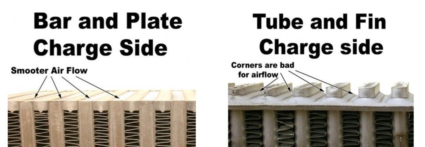 bar and plate vs tube and fin intercoolers