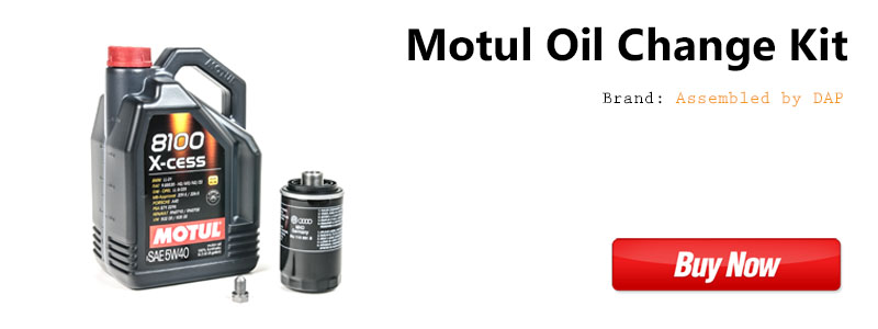 VW CC 2.0t TSI Motul Oil Change Kit